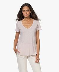 American Vintage Jacksonville V-hals T-shirt - Vintage Ballerina