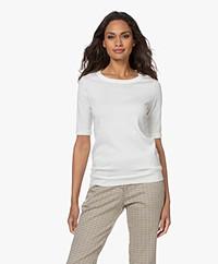 JapanTKY Kie Short Sleeve Sweater - Wool White
