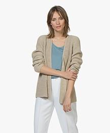 Drykorn Drena Chunky Knit Cotton Cardigan - Beige