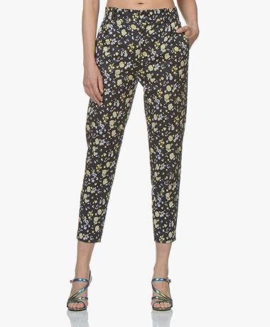 Drykorn Now Jersey Pantalon met Print - Donkerblauw