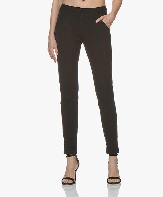 JapanTKY Leiko Slim-fit Jersey Broek - Zwart