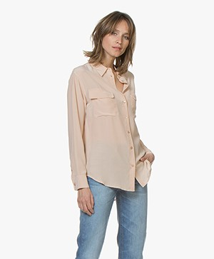 Equipment Signature Washed-silk Blouse - Nude