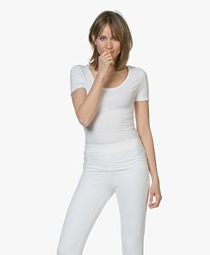 Drykorn Natina Scoopneck T-shirt - White