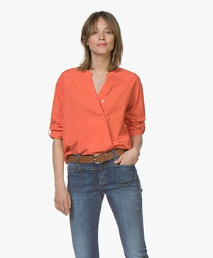 Closed Blanche Poplin Blouse - Coral
