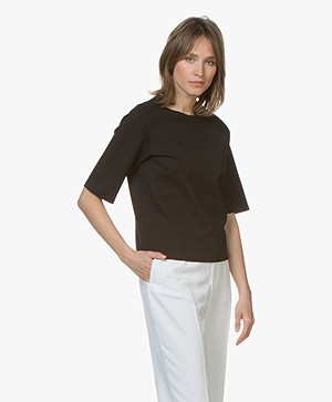 Filippa K Sculptural T-shirt - Zwart