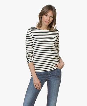 Petit Bateau Iconic Striped Pullover - Coquille/Smoking