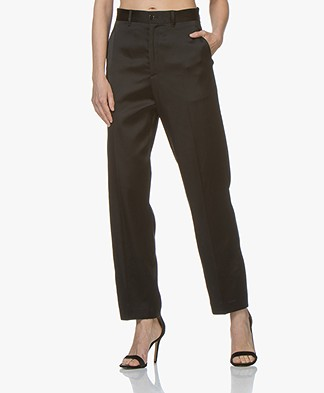 Closed Milla Satijnen Loose-fit Pantalon - Zwart
