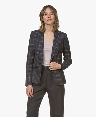 Rag & Bone Lexington Geruite Blazer - Donkerblauw/Multi