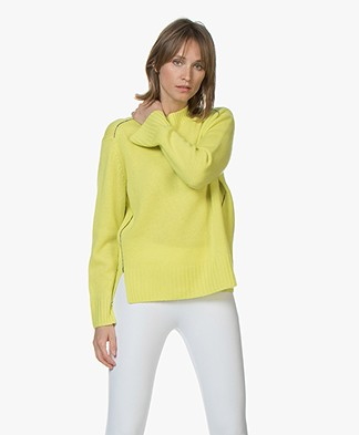 Joseph Pure Cashmere Sweater - Chartreuse