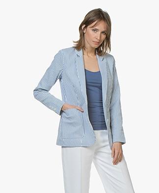 Josephine & Co Celesto Seersucker Blazer - Striped Blue