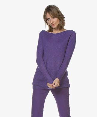 Josephine & Co Corlinda Mohair Blend Sweater - Purple