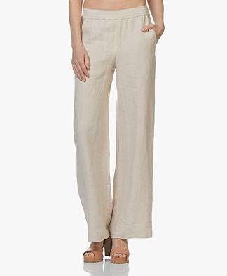 Majestic Filatures Linen Pants with Wide Legs - Sand