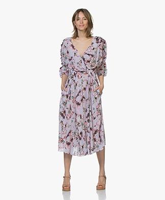 IRO Liky Viscose Print Dress with Frills - Light Purple