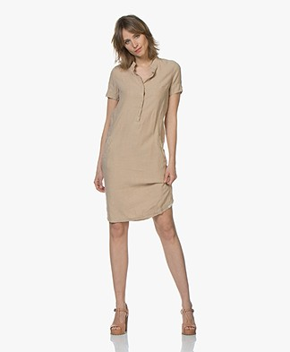 Josephine & Co Cas Linen Shirt Dress - Sand