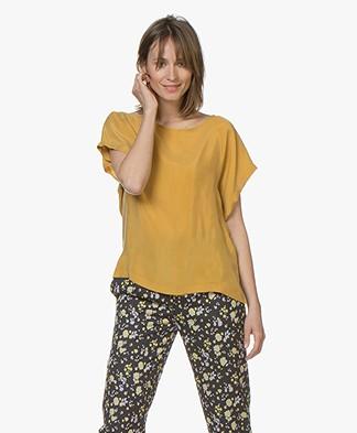 Drykorn Somia Cupro Blouse - Ocher Yellow
