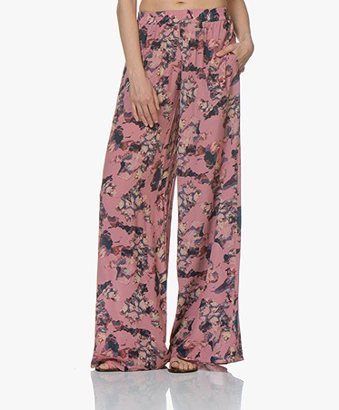 IRO Tany Loose-fit Flower Print Pants - Old Pink