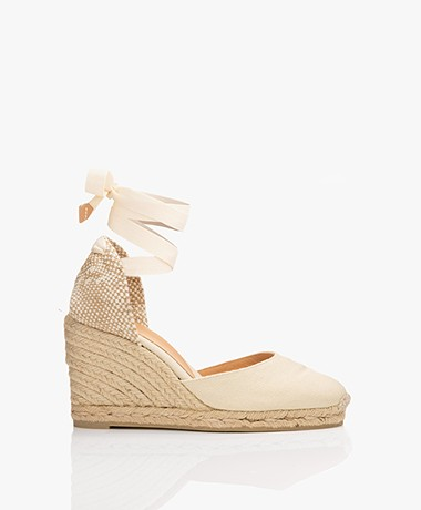 Castaner Carina Canvas Wedge Espadrilles - Ivory