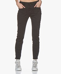 Closed Abby Slim-fit Jersey Broek - Zwart