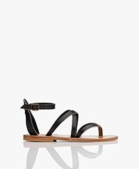 K. Jacques St. Tropez Epicure Leather Sandals - Black