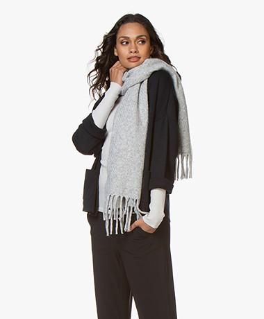 Drykorn Ligu Alpaca Wool Blend Scarf - Grey Melange