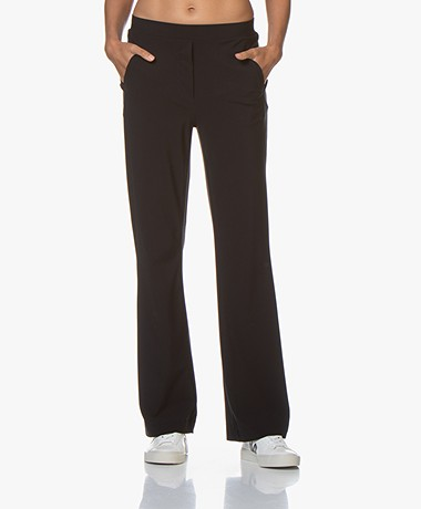 no man's land Straight Leg Travel Jersey Pants - Blue Black