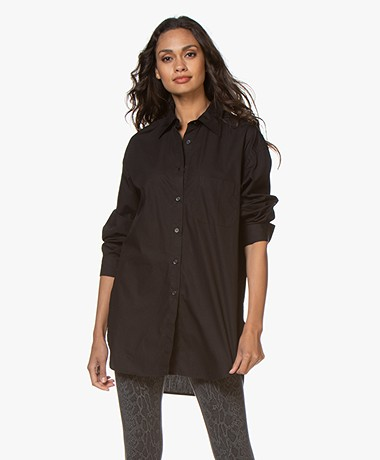 Filippa K Nina Poplin Shirt - Black
