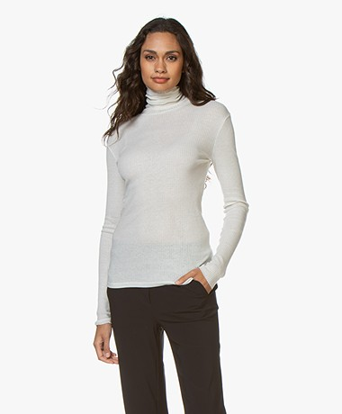 Filippa K Shima Polo Neck Top - Snow
