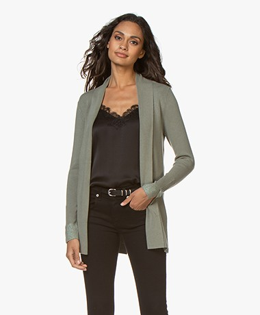 LaSalle Open Milano Cardigan from Soy Beans - MINT