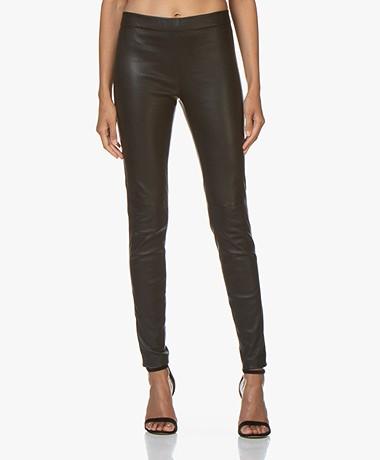 Vanessa Bruno Haikel Leather Leggings - Black