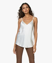 Resort Finest Satin Camisole Top - Ecru