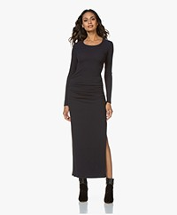 James Perse Sueded Jersey Split Dress - French Navy