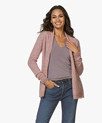 Belluna Mickey Open Alpaca Blend Cardigan - Old Pink
