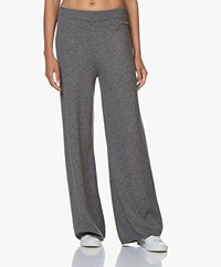 Joseph Wool and Cashmere Knitted Pants - Dark Grey Melange