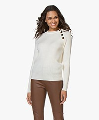 Resort Finest Porto Merino Wool Rib Sweater - Ecru