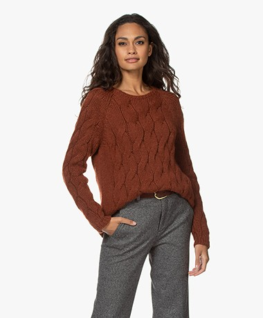 Sibin/Linnebjerg Gloria Cable Knit Sweater - Fox