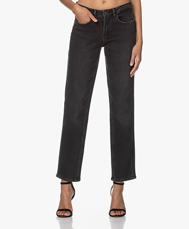 by-bar Mook Rechte Stretch Jeans - Jet Black
