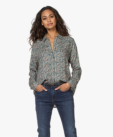 indi & cold Viscose Millefleurs Print Blouse - Multi-color