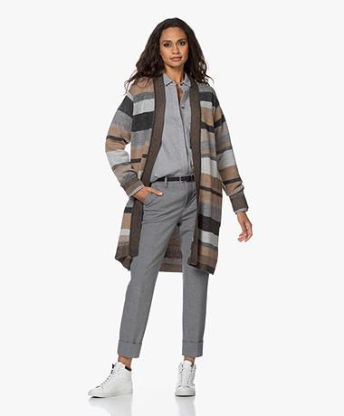Repeat Gestreept Open Wol-Cashmere Vest - Multi-color