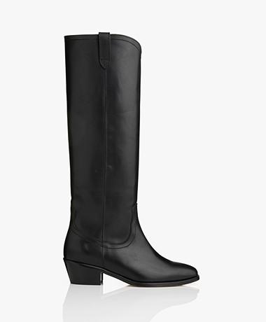 Vanessa Bruno High Leather Boots - Black