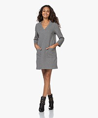 indi & cold Lili Pied-de-poule Jersey Dress - Grey/Black