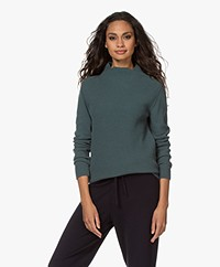 Belluna Etienne Wool Blend Funnel Neck Sweater - Green