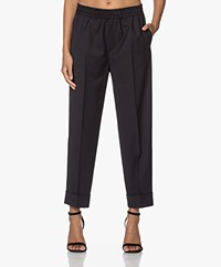 Filippa K Franca Cool Wool Pull-on Pants - Navy