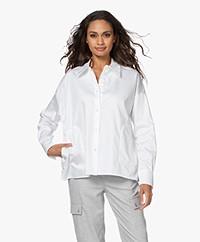 Drykorn Cloelia Katoenen Poplin Overhemdblouse - Wit