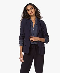 Woman by Earn Ann Flared Sleeve Blazer - Navy
