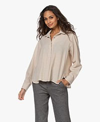 Pomandère Wool and Viscose Blend Shirt - Beige
