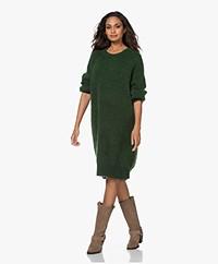 American Vintage Zabibay Knitted Mohair Blend Dress - Fir Tree Melange