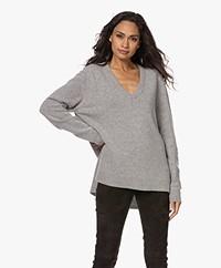 Sibin/Linnebjerg Haven V-neck Sweater - Dark Grey