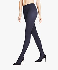 FALKE Rib 50 Denier Tights - Marine