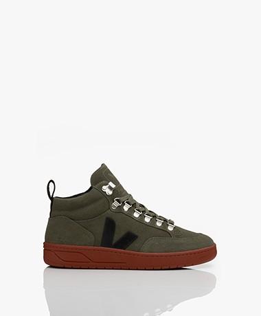 VEJA Roraima Suede Mid Top Sneakers - Olive/Black/Rust