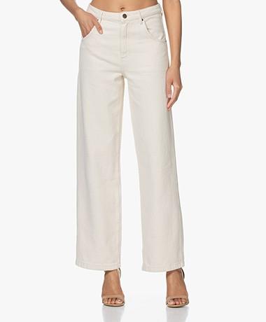 American Vintage Tineborow Rechte Mom Jeans - Ecru